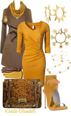 """Mocha And Mustard"" by konata-glamdoll on Polyvore"