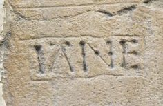 """""""Jane"""" carved into the wall of a room in the Beauchamp Tower in the Tower of London. It is believed (no absolute proof available) that it was carved by Guildford Dudley, husband of Lady Jane Grey. They were both executed (along with a number of other people) for trying to put Jane on the throne. I find this quite poignant -- in prison, awaiting execution, this young man chose to commemorate his wife, not himself. Evidence of true love?"""