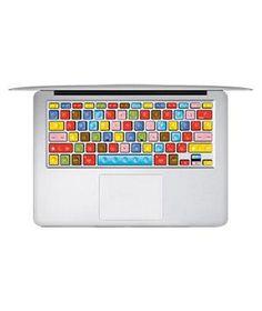 LEGO Macbook Keyboard Decal Humor Sticker Art Protector (make your Macbook keyboard look like Lego bricks!)