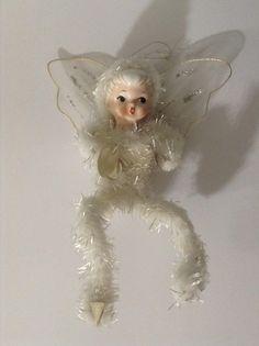 Vintage Holt Howard Christmas Angel Fairy Ornament Chenille Porcelain Figurine Christmas Fairy, Antique Christmas, Christmas Angels, Christmas Ornaments, Chenille Crafts, Merry Christmas Everyone, Vintage Ornaments, Fun Crafts, Yule