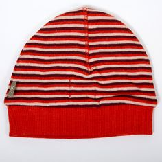 Red Kidscase Oliver organic hat - Super soft baby striped hat. £9.95 + Free P&P