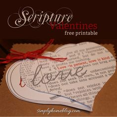 Scripture Valentines from Simply Home