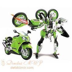 Робот-трансформер - KAWASAKI NINJA ZX-12R (1:10)  Цена: 472 UAH  Артикул: 53010R   Подробнее о товаре на нашем сайте: https://prokids.pro/catalog/igrushki/igrushki_dlya_malchikov/avto_moto_tekhnika/robot_transformer_kawasaki_ninja_zx_12r_1_10/