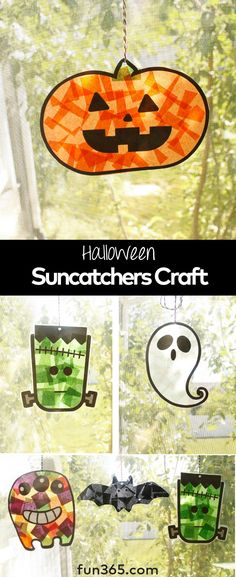 october crafts for kids This fun and easy Halloween kids craft will allow your kids to add to your Halloween decor. These suncatcher craft ideas with tissue paper will quickly become a favorite craft with your kids. Halloween Tags, Quick Halloween Crafts, Halloween Crafts For Toddlers, Holidays Halloween, Toddler Crafts, Happy Halloween, Kids Crafts, Halloween Crafts For Kindergarten, Pumpkin Crafts Kids