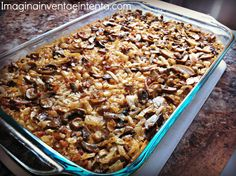 My mother-in-law introduced this recipe for Armenian Rice to me a few months ago and I absolutely love it - it has bacon, mushrooms, and chopped almonds!