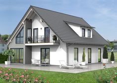 fassadengestaltung – Google-Suche My House Plans, Modern House Design, Cabana, Gazebo, Exterior, Outdoor Structures, Mansions, Architecture, House Styles
