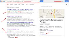 Arpita Step Up Dance Academy in mumbai   Google Search. Decoding the Mystery called Google.