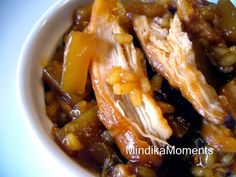 Crock Pot Pineapple Chicken, can use up some of my sticky rice (less sugar tho?)