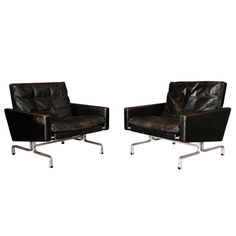 A Pair Of Poul Kjaerholm Pk31's , Denmark 1960 | From a unique collection of antique and modern chairs at http://www.1stdibs.com/furniture/seating/chairs/