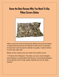 Know the Best Reason Why You Need To Buy Pillow Covers Online Pillow Covers Online, Good Things, Pillows, Cushions, Pillow Forms, Cushion, Scatter Cushions