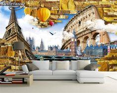 Beibehang Custom 3D wallpaper Eiffel tower photo wallpaper living room TV background wallpaper for walls 3 d papel de parede