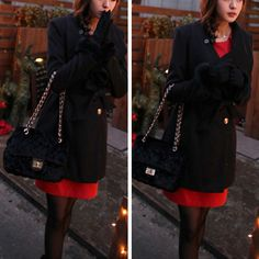 Fashion Solid Color Single-breasted Lapel Woolen Coat
