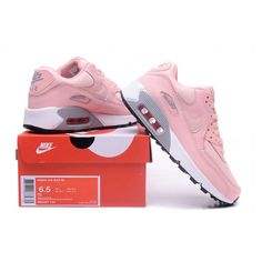 check out 4c5ce 42ba8 Nike Air Max 90 Womens Shoes Pink Grey