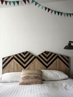 The first headboard Alasko made, now her most popular pattern. Photo: Ariele Alasko