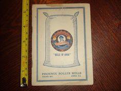 BP008 RARE Vintage 1914 Recipe Calendar Ad Pheonix Roller Mills Belle of Anna IL | eBay