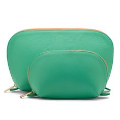 Cuyana Travel Case Set in Pistachio is chic and bright enough to find buried in your suitcase. $95.