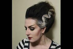 Bride of Frankenstein | 19 Hair Ideas To Step Up Your Halloween Costume