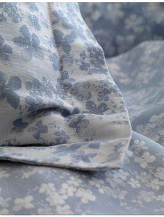 Meadow indigo blue cotton bedding set