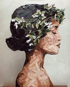 Arte Inspo, Images D'art, L'art Du Portrait, Female Portrait, Ouvrages D'art, Art And Illustration, Wall Art Pictures, Painting Pictures, Home Pictures