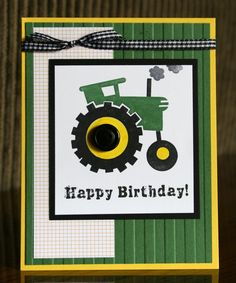 Stampin' Up! By Land by Krystal De Leeuw at Krystal's Cards and Birthday Cards For Boys, Bday Cards, Birthday Kids, Scrapbooking, Scrapbook Cards, Punch Art Cards, Masculine Cards, Paper Cards, Creative Cards