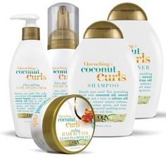 Ogx Quenching + Coconut Curls Curling Leave in Hair Butter - Curl Shampoo, Shampoo For Curly Hair, Curly Hair Care, Curly Hair Tips, Natural Hair Care, Curly Hair Styles, Natural Hair Styles, Wavy Hair, Asian Hair Care