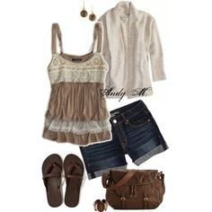 """""""Earthy tones, summer movie."""" by andym8 on Polyvore"""