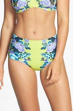 Seafolly 'Bella Rose' High Waist Bikini Bottoms available at #Nordstrom