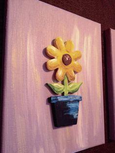 2 piece (8x10) flower pot wall art sets. Perfect for a nursery!