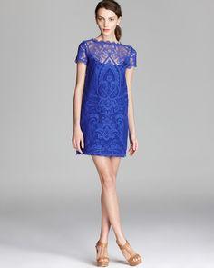 Nicole Miller Lace Dress - Cap Sleeve | Bloomingdale's