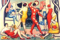 jean-metzinger - les-arlequins, 1925