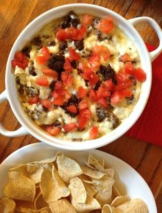 Hot Donair Dip (aka HaliDip) - made this this weekend. I skipped all the prep - bought $5 worth of donair meat from Toulany's, chopped it up and added it to the cream cheese/mozza mixture. Baked for 20 mins, topped with tomatoes and onions and served with Tostitos scoops. Hubby LOVED it! Definitely a dip to serve when men are eating. Very filling too!