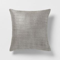"West Elm Metallic Brush Pillow Cover ($29, 18""sq)"