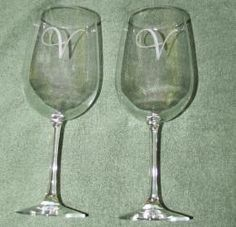 Set of 2 Personalized Wine Glasses, $19.99