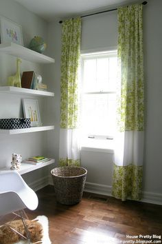 Lengthening curtains by adding new fabric panels