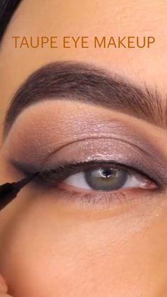 Eyebrow Makeup Tips, Eye Makeup Steps, Makeup Eye Looks, Beautiful Eye Makeup, Beauty Makeup Tips, Love Makeup, Taupe Eye Makeup, Skin Makeup, Makeup Brushes
