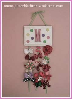 Bow Holder for little girls room