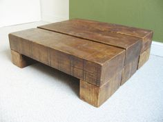 Chunky Wooden Coffee Table by TheCoolWoodCompany on Etsy, £195.00