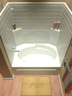 """one piece whirlpool tub and shower units 60"""" x 31"""" x 75"""