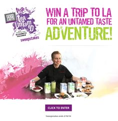 We're giving one lucky Good Earth fan a once-in-a-lifetime taste adventure: a trip for two to LA for a meet & greet & eat with Celebrity Chef Elizabeth Falkner! Enter our Taste the Tea Untamed Sweepstakes for your chance to see the Bravo & Food Network star chef at work in the kitchen, learn cool cooking tips, and taste her amazing cuisine – while you soak in the sun & fun of LA.