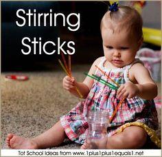 Tot School Stirring Sticks 12-18 Months