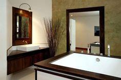 Wonderful Timber-Framed House Interior Designs: Charming Bathroom Japanese Style Modern Timber Framed Home