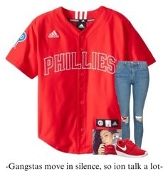"""""""gangstas move in silence , so ion talk a lot ."""" by qveenkyndall16 ❤ liked on Polyvore featuring Topshop, Rolex and NIKE"""