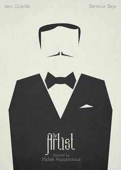 The Artist (2011) ~ Minimal Movie poster by Mads Svanegaard #amusementphile