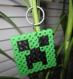 Minecraft Creeper Keychain. $5.00, via Etsy.