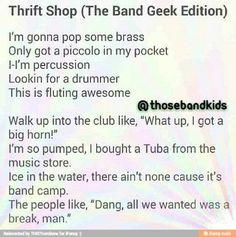 Thrift Shop, band geek edition. This is perfect.