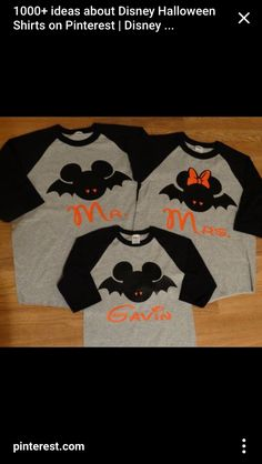 Free/Fast shipping for us mickey and minnie halloween bats family long sleeve baseball t-shirts Mickey Halloween Party, Disneyland Halloween, Disney Halloween Shirts, Halloween Bats, Disney Costumes, Disney Outfits, Family Halloween, Mickey Party, Halloween Parties