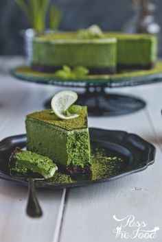 Pass the Food: matcha cheesecake: Pass the Food: matcha cheesecake