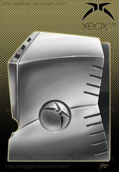 Next Xbox 720 Console Concept Design by Dennis Patzelt - Side of Console
