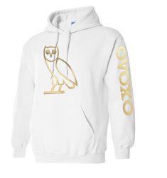New Gold OVOXO Hooded Sweatshirt Drake OVO Hoodie sizes S 5XL