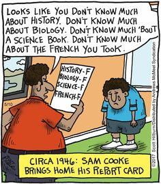 Argyle Sweater comic by Scott Hilburn May Don't know much.but I know I love music Music Puns, Music Humor, Music Memes, Music Music, Funny Cartoons, Funny Comics, Funny Memes, Hilarious, Argyle Sweater Comic